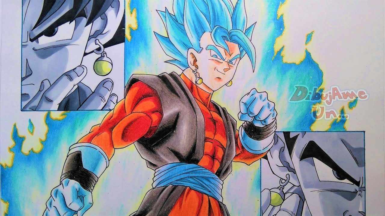 Drawing Goku Vegeta Amp Vegetto Ssj Blue Super Db Heroes