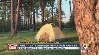 Great Late Summer Deals for Families
