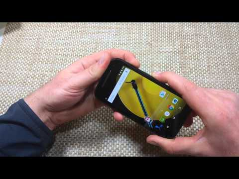 Motorola Moto E 4G (2nd Generation) How to Soft reset, reboot if crashing freezing or won