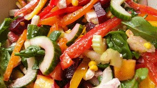 Rainbow Cheese Salad