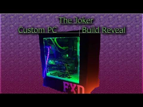 custom diy joker themed pc build in the nzxt s340 suicide. Black Bedroom Furniture Sets. Home Design Ideas