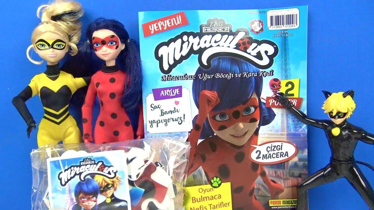 Mucize Uğur Böceği ve Kara Kedi Dergisi açtık Queen Bee Kraliçe Arı Azra ile Miraculous puzzle oyunu