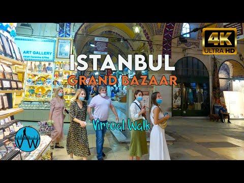 ⁴ᴷ⁵⁰ ISTANBUL BAZAAR WALK 🇹🇷 Walking in Kapalı Çarşı(Grand Bazaar) at The Weekday.