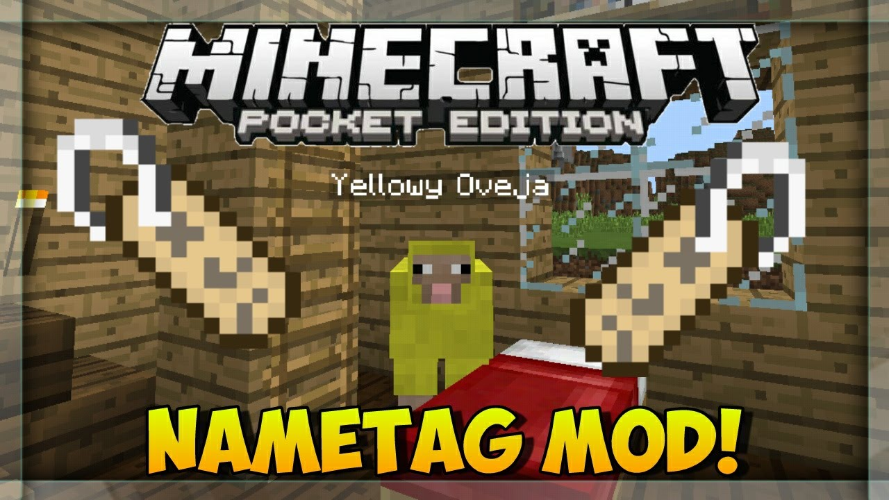 Name Tags Mod for MCPE 9Minecraft Net