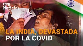 La INDIA, asolada por un TSUNAMI de muertes y contagios | RTVE Noticias