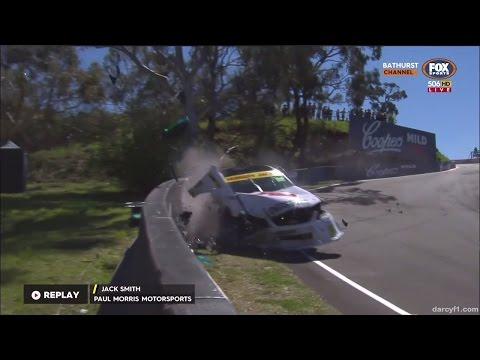 Supercars Dunlop Series 2016. Mount Panorama Circuit. Jack Smith Hard Crashes