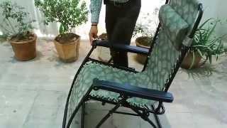 Reclining Rocking Chair Folding Gravity