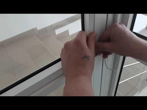 Как снять штапик с алюминиевого окна видео