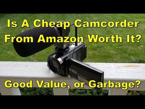 Cheap Camcorder From Amazon, Review And Test
