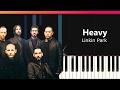Linkin Park Heavy Ft Kiiara Piano Tutorial Chords How To Play Cover mp3