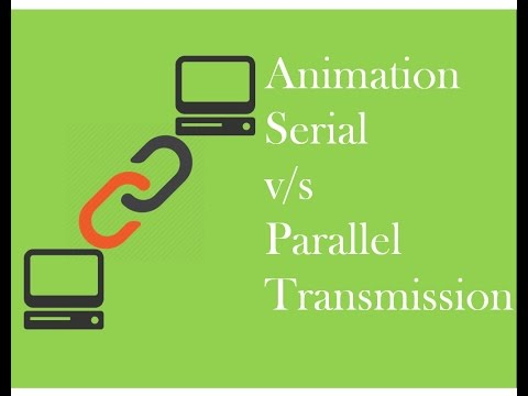 Animation of Serial v/s Parallel Transmission