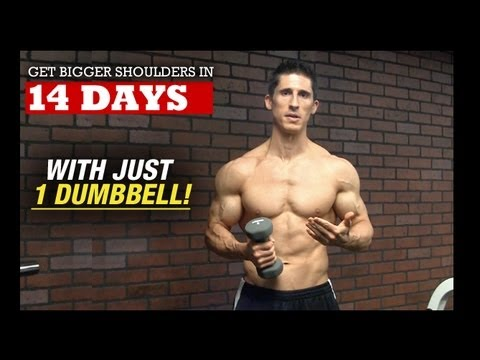Bigger Wider Shoulders in 14 DAYS (With 1 DUMBBELL!)