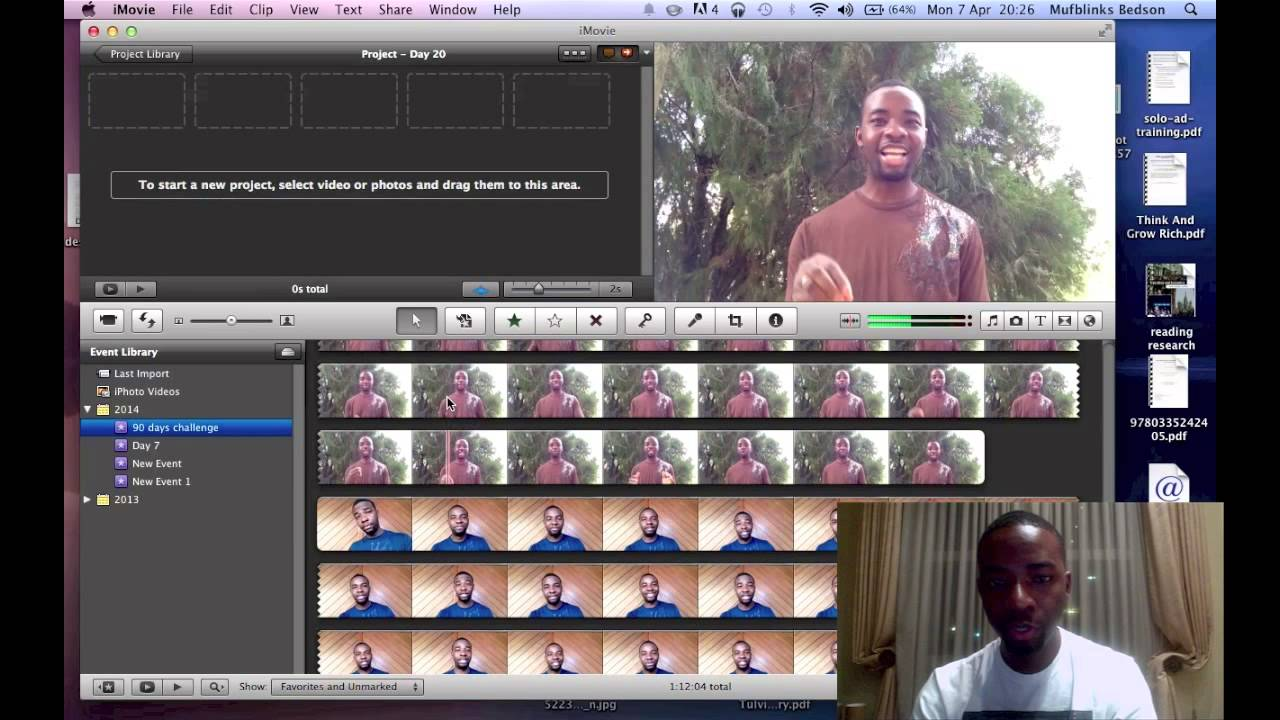 how to cut video clips in imovie