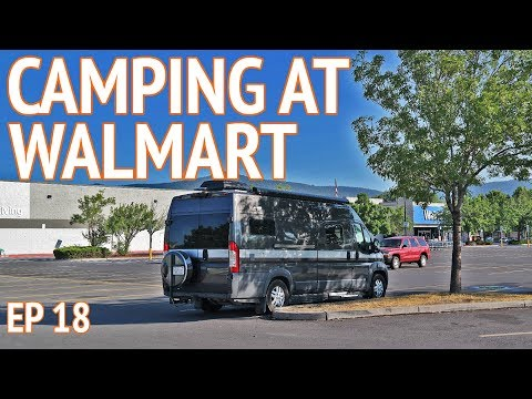 Spending the Night at Walmart | EP 18 Camper Van Life