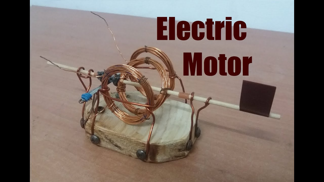 How To Make An Electric Motor Open Fram Tutorial