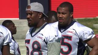 Von Miller, Bradley Chubb and the Broncos hit the field for Phase II offseason work