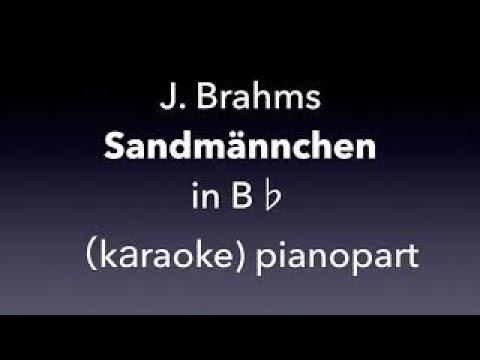 Sandmännchen   J. Brahms  in  B♭ karaoke