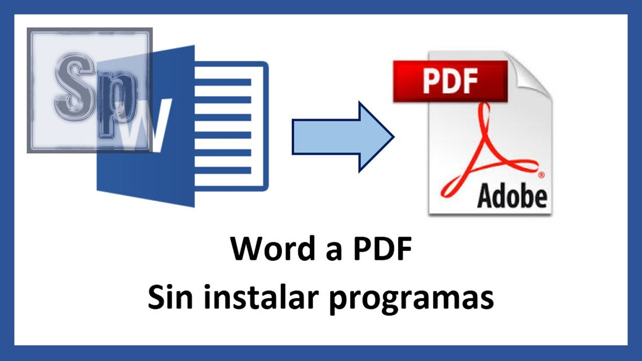 transformar archivo de word a pdf gratis
