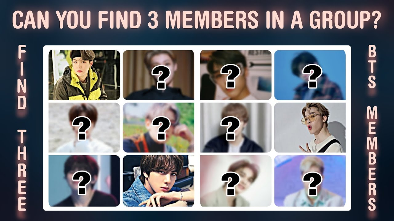 CAN YOU FIND THE 3 MEMBERS IN A GROUP? | THIS IS KPOP GAMES