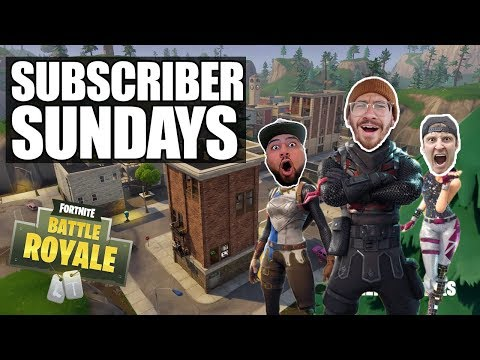 SUBSCRIBER SUNDAYS!! FORTNITE BATTLE ROYALE WITH TEAM ALBOE!!