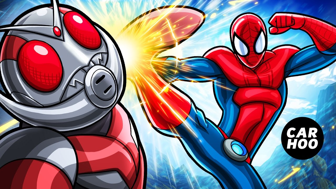 MASKED SPIDER Ep02 - Spider-man vs Antman Fist Fight !!!! 【Marvel's Spider-man Parody】