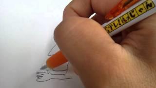 あまり知らないけど、想像でおもてなしの滝川クリステルの似顔絵を書い...