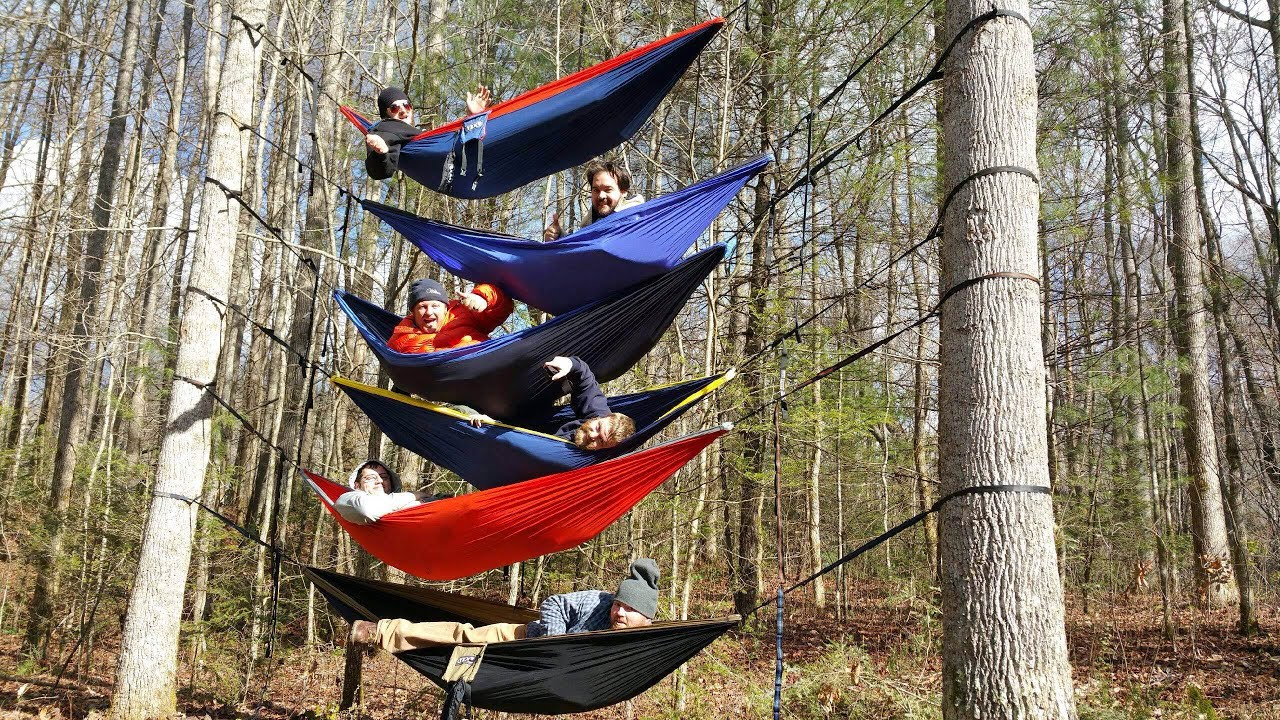 stacking eno hammocks 6 high   first try ever    youtube  rh   youtube