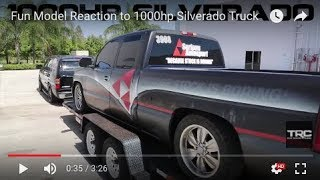 Fun Model Reaction to 1000hp Silverado Truck
