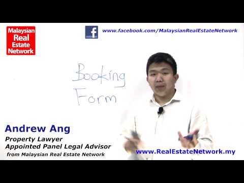 Property Investment Malaysia Legal Tips No 1 - Booking Forms