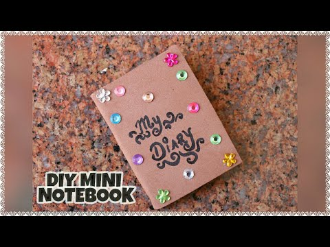 How to make DIY mini diary or mini notebook from foam and paper | Fun and easy craft ideas for kids