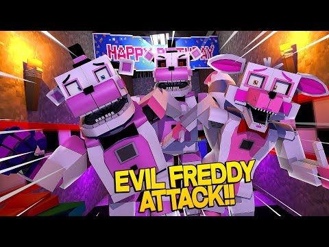 Minecraft Fnaf: Sister Location - Attack Of The Evil Clone Freddy (Minecraft Roleplay)