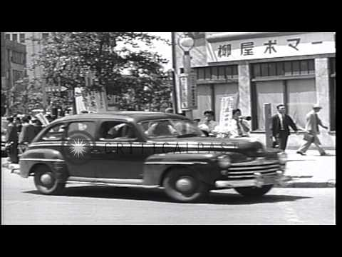Reconstruction of Japan after WWII. New Constitution and implementation of democr...HD Stock Footage