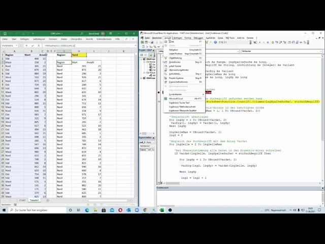 257: Excel-VBA: Recht flott - die universale Suchen-Funktion als benutzerdefinierte Matrix-Funktion