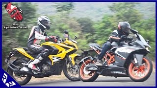 Bajaj Pulsar RS200 Vs KTM RC200 Comparison full review + Alpinestars Gloves Giveaway | RWR