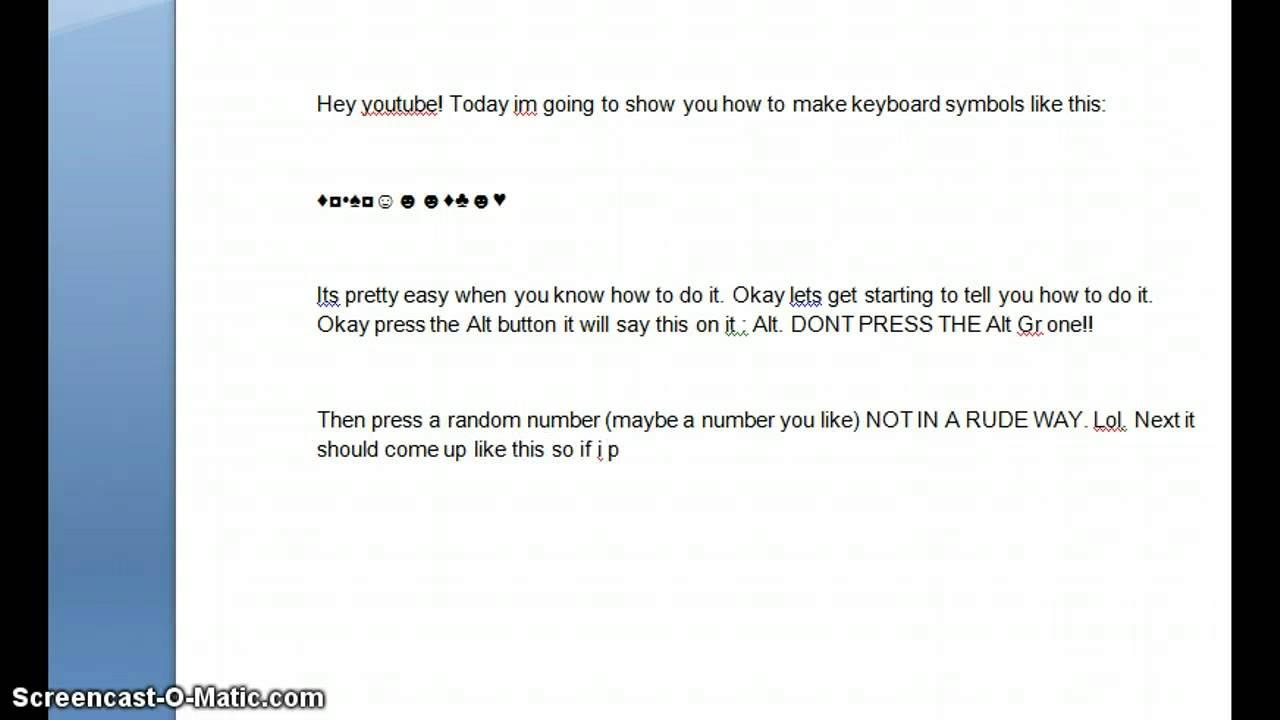 How To Make Keyboard Symbols Easy Tips Youtube
