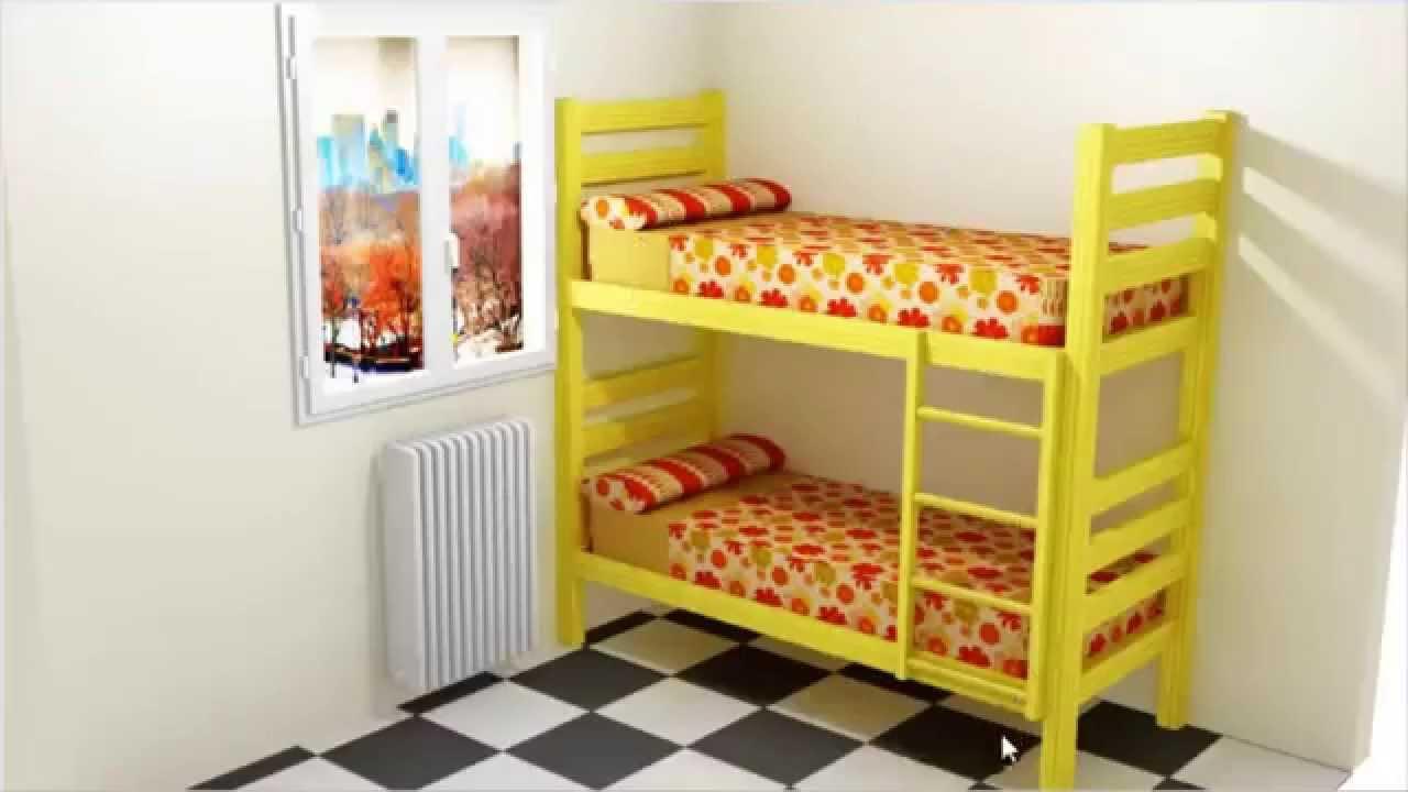 Como hacer unas camas literas youtube - Hacer una cama de madera ...