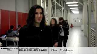 [Licensing per i Beni di Lusso] Testimonianze degli Studenti - Chiara Castelluzzo