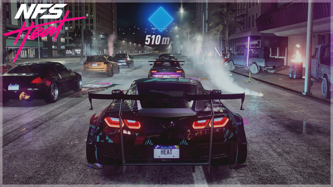 Need For Speed Heat | K.S Edition Corvette Grand Sport Night Racing Gameplay [4K] (Insane Sound)