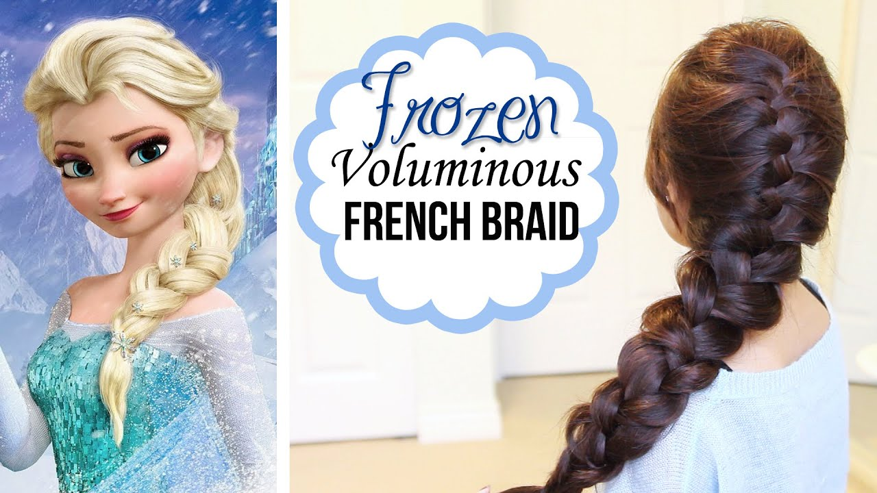 frozen elsa's french braid hairstyle