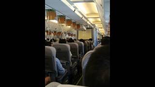 羽田発 旭川行き jAL573 緊急降下(外の風景あり) thumbnail