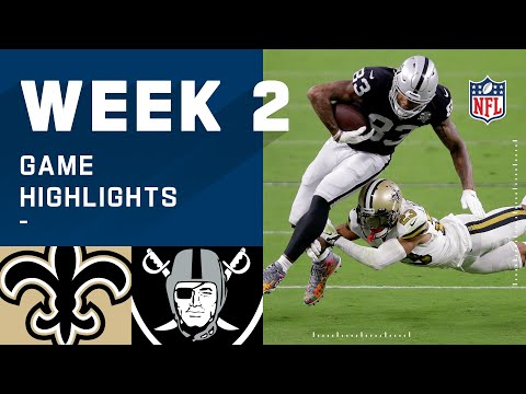 Saints vs. Raiders Week 2 Highlights | NFL 2020
