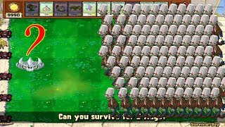 Plants vs Zombies hack - Starfruit and Spikerock vs all Zombies