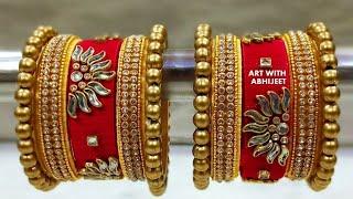 New Latest Silk Thread Bridal Bangles for Wedding |KADE MAKING| BANGLE MAKING AT HOME