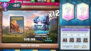 OPENING x12 NEW CLAN WAR CHEST OFFERS! NEW WAR DAY! | Clash Royale | WAR COLLECTON CHEST OPENING