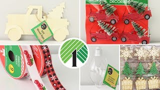 SHOP WITH ME DOLLAR TREE CHRISTMAS 2019 | New Finds & Tons Of Little Red Truck Items