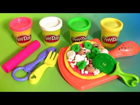 Thumbnail: Play Doh Pizza Party - Play Dough Fiesta de Las Pizzas NEW 2015 Pizzeria Playset пицца πίτσα