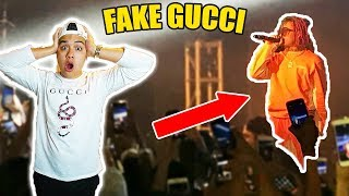 WEARING FAKE GUCCI TO LIL PUMP TOUR CALLED OUT