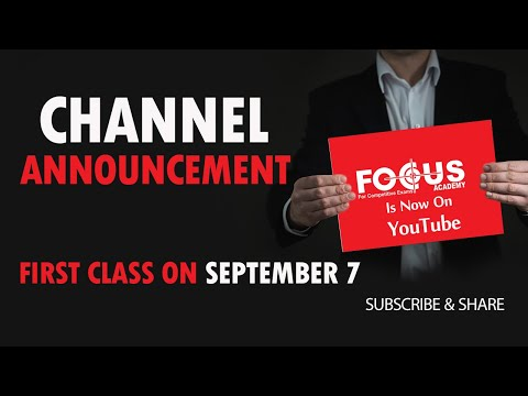 Focus Academy YouTube Class Announcement