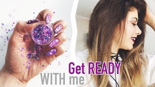 GET READY WITH ME ♡ NA RANDKĘ + KONKURS!!