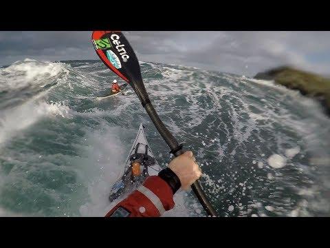 Sea Kayaking at Calf Sound Isle of Man - spring tides 3rd December '17